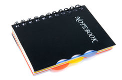 Notebook. Isolated on white, close up Stock Image