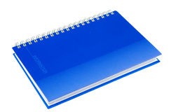 Notebook. Isolated on white, close up Stock Photo