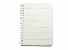 Notebook. Diary on isolated background Royalty Free Stock Photo