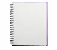 Notebook. Diary on isolated background Royalty Free Stock Photos