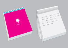 Notebook. Vector illustration of a blank notebook open and indoor Royalty Free Stock Photo