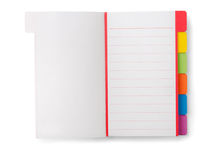 Notebook. Open blank notebook isolated on white Stock Image