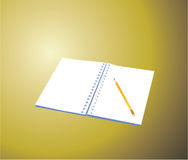 Notebook. With a pencil. Illustration available Stock Image
