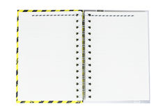 Notebook. Yellow black and gray cover Royalty Free Stock Images