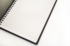Notebook. Black notebook on the white background Stock Photography