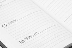 Notebook. Week date blank business schedule paper Royalty Free Stock Photography