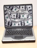 Notebook. Money stock photos