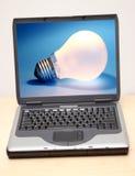 Notebook. Lightbulb stock images