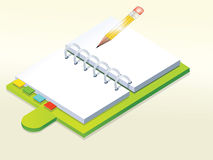Notebook stock illustration