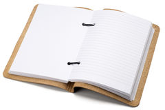 Notebook. An open notebook on white Royalty Free Stock Images