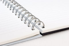 NOTEBOOK. Blank spiral notebook ready for writing Royalty Free Stock Photo