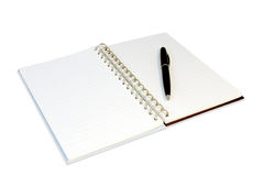 NOTEBOOK. Blank spiral notebook ready for writing Stock Photos