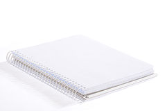 Notebook. Isolated open notebook on a white background Royalty Free Stock Photo