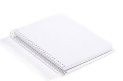 Notebook. Isolated open notebook on a white background Royalty Free Stock Photography