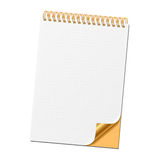 Notebook. Vector illustration of a notebook with curled corner Stock Images