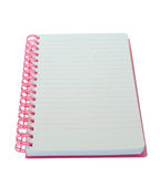 Notebook. One notebook on the white Royalty Free Stock Photography