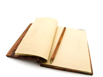 Notebook. Open notebook with pen in ancient style Royalty Free Stock Photos