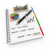 Notebook accounting concept Royalty Free Stock Photo
