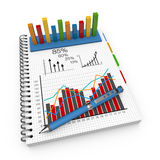 Notebook accounting concept Stock Photography