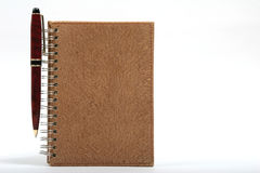 Notebook or Agenda and Pen Stock Image