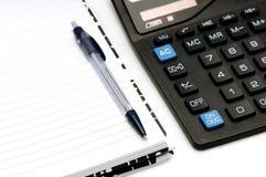 Notebook And Calculator Stock Photos
