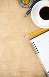 Notebook And Coffee Stock Image