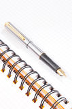 Notebook And Fountain Pen Royalty Free Stock Photos