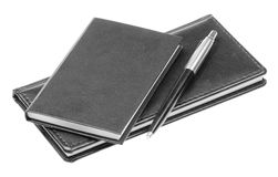 Notebook And Pen Isolated Stock Photography