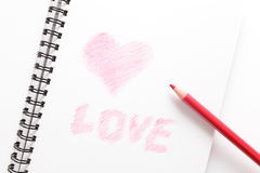 Free Notebook And Red Pencil Stock Photography - 21771882