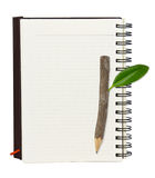 Notebook And Wood Pencil Royalty Free Stock Photo