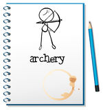 A notebook with an archery design Stock Images