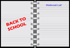 Notebook with back to school Stock Photos