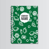 Notebook with back to school pattern. Back to school branding ba Royalty Free Stock Image