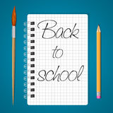 Notebook back to school Stock Image
