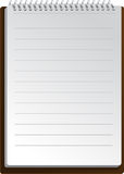 Notebook background in lines Royalty Free Stock Photography