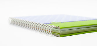 Notebook background open right  view with a spiral binding Royalty Free Stock Images