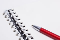Notebook and ball-pen Stock Photography
