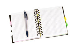 Notebook and ball-point pen. The notebook and ball-point pen royalty free stock photos