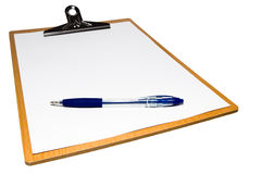 Notebook and ballpen Stock Photo