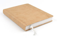 Notebook in beige cover Royalty Free Stock Photo