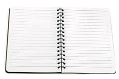 Notebook black lined lying Stock Images