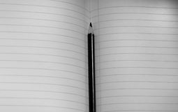 Notebook. In black and white Stock Photography