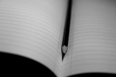 Notebook. In black and white Stock Images