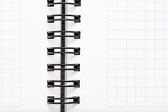Notebook with black wire Stock Photography