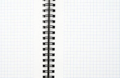 Notebook with black wire Stock Photos