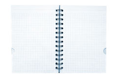 Notebook with black wireo Stock Photo
