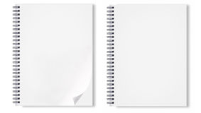 Notebook with black wireo Stock Images