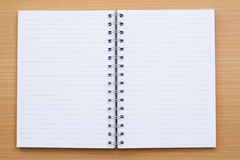 Notebook. Blank lined notebook with white color Royalty Free Stock Photo