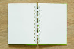 Notebook blank. Open with paper Stock Images