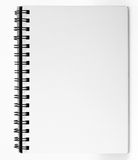 Notebook with blank page Royalty Free Stock Photography